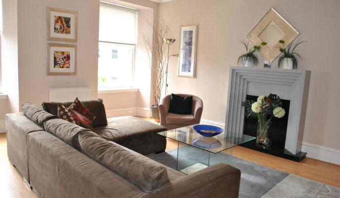 Glasgow West End Living Room